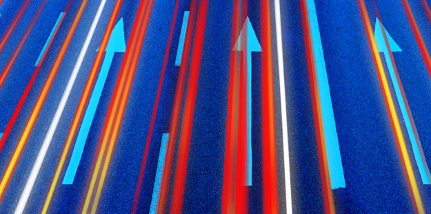 abstract arrows moving forward