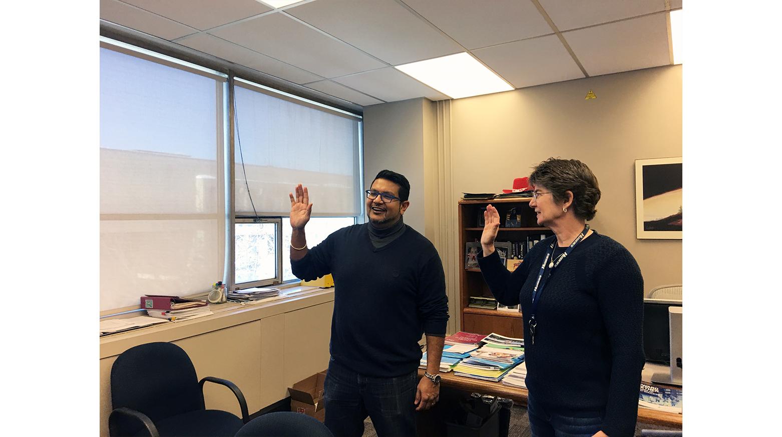 Darshan Harrinanan gets sworn in