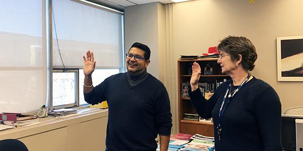 Darshan Harinanan sworn in as a temporary Director