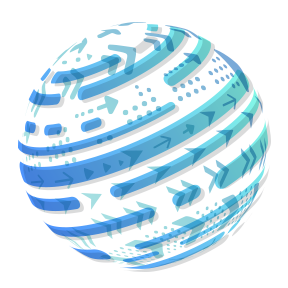 Illustration of sphere with blue arrows to show rotation