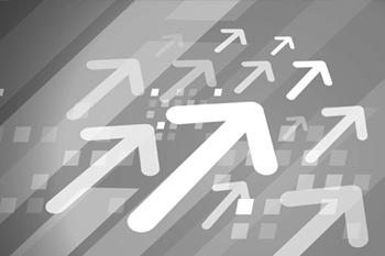 Illustration of arrows moving diagonally upwards