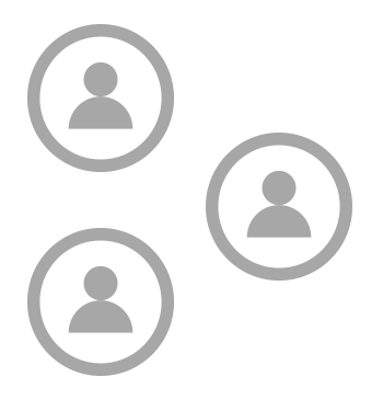 Illustration icons of people in circles