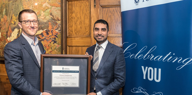 Vikram Chadalawada presented with Sustained Service of Excellence Award