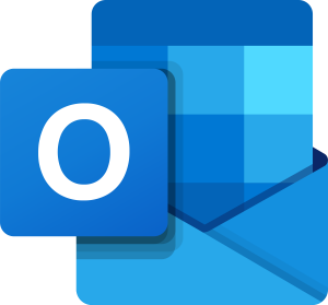 All blue Outlook icon