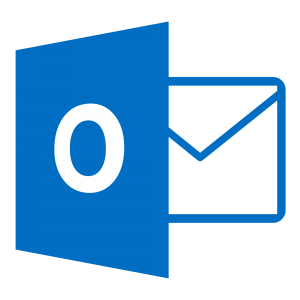 Blue and white Outlook icon