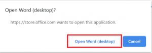 Open Word (desktop)