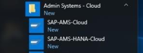 Screenshot of SAP shortcuts