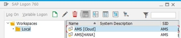 Screenshot of SAP GUI logon pad