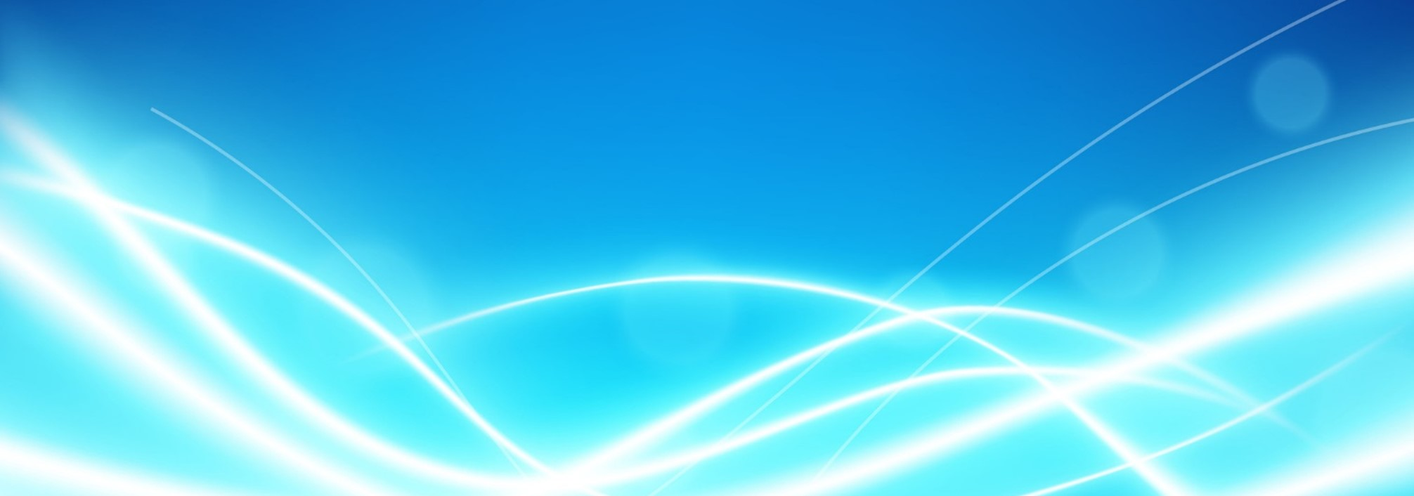 Abstract waves on blue background
